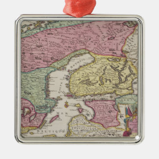 Antique Map of Sweden 2 Christmas Ornament