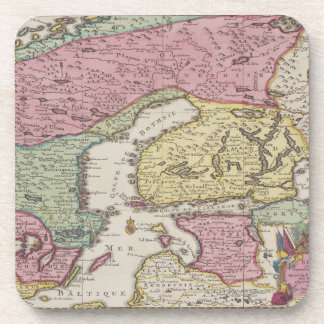 Antique Map of Sweden 2 Coaster