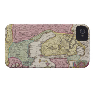 Antique Map of Sweden 2 iPhone 4 Case-Mate Cases