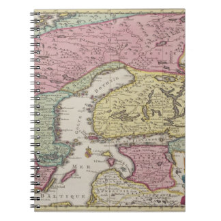Antique Map of Sweden 2 Notebook