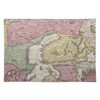 Antique Map of Sweden 2 Placemat