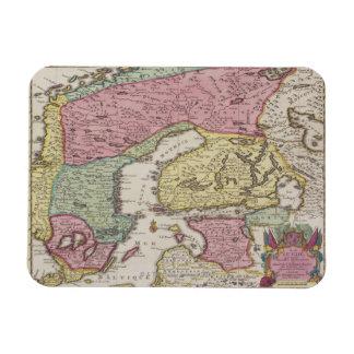 Antique Map of Sweden 2 Rectangle Magnets