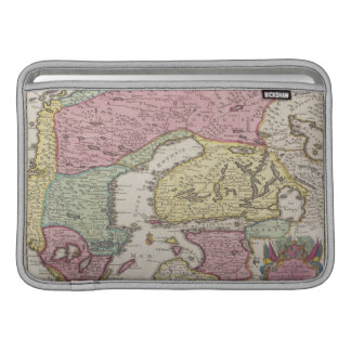 Antique Map of Sweden 2 Sleeve For MacBook Air