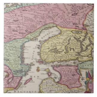 Antique Map of Sweden 2 Tile