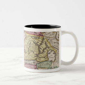 Antique Map of Sweden 2 Two-Tone Coffee Mug