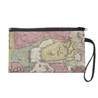 Antique Map of Sweden 2 Wristlet