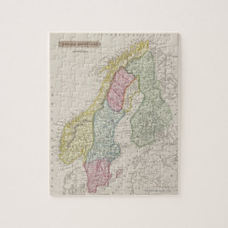 Antique Map of Sweden Jigsaw Puzzle