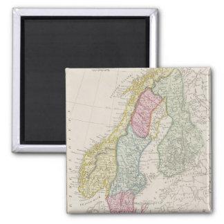 Antique Map of Sweden Magnets