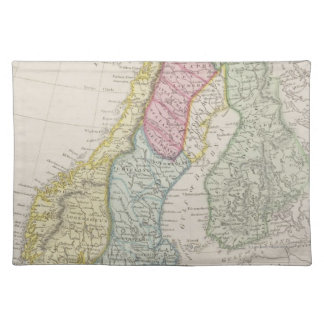 Antique Map of Sweden Placemat