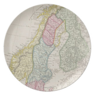 Antique Map of Sweden Plate