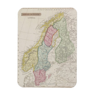Antique Map of Sweden Rectangular Photo Magnet