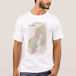 Antique Map of Sweden T-Shirt