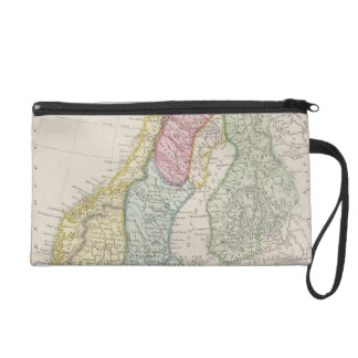 Antique Map of Sweden Wristlet