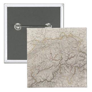 Antique Map of Switzerland 15 Cm Square Badge
