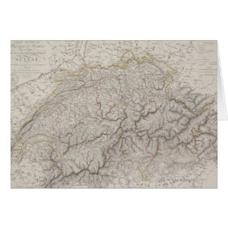 Antique Map of Switzerland Card