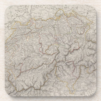 Antique Map of Switzerland Coaster