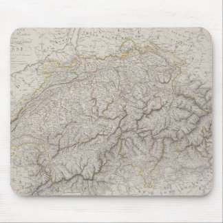 Antique Map of Switzerland Mouse Mat