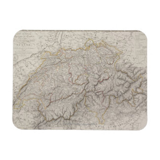 Antique Map of Switzerland Flexible Magnets