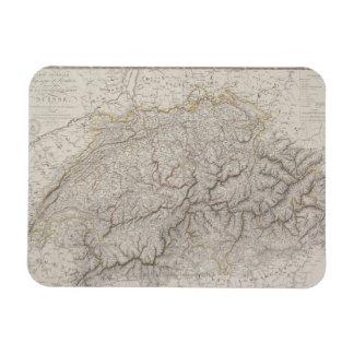 Antique Map of Switzerland Rectangular Photo Magnet