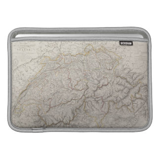 Antique Map of Switzerland Sleeve For MacBook Air