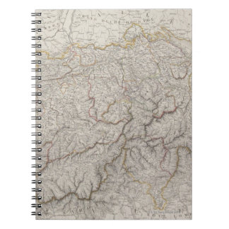 Antique Map of Switzerland Spiral Notebook
