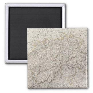 Antique Map of Switzerland Square Magnet