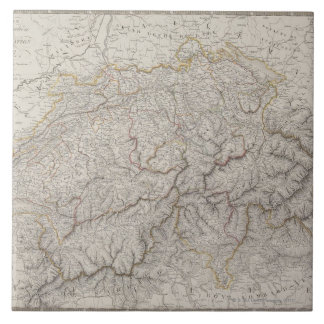 Antique Map of Switzerland Tile