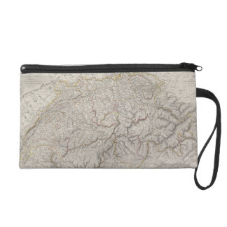 Antique Map of Switzerland Wristlet
