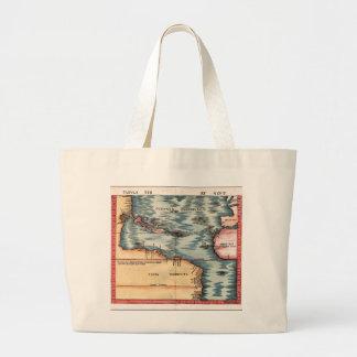 Antique Map of The Atlantic Ocean Tote Bag