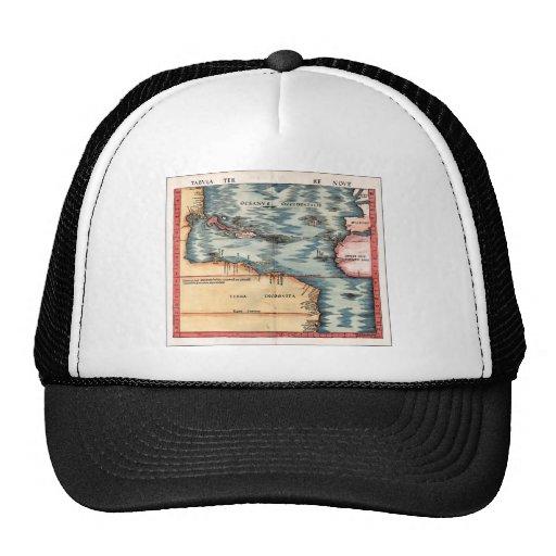 Antique Map of The Atlantic Ocean Trucker Hats