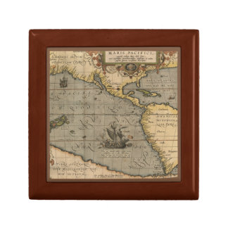 Antique Map of the Pacific Ocean Gift Box
