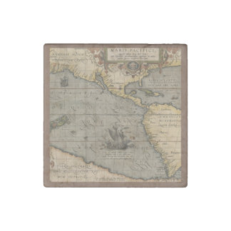 Antique Map of the Pacific Ocean Stone Magnet