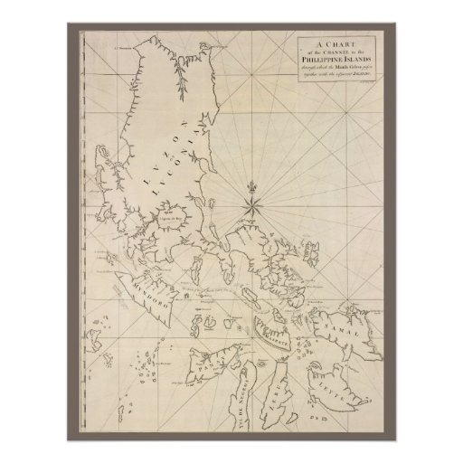 Antique map of the Phillippines Poster