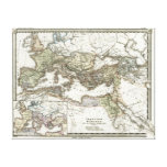 Antique Map of the Roman Empire Gallery Wrapped Canvas