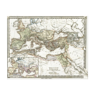 Antique Map of the Roman Empire Canvas Print