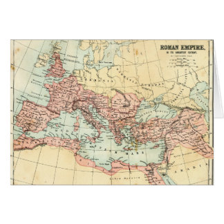 Antique map of the Roman Empire Card