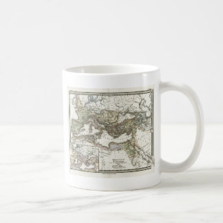 Antique Map of the Roman Empire Coffee Mug