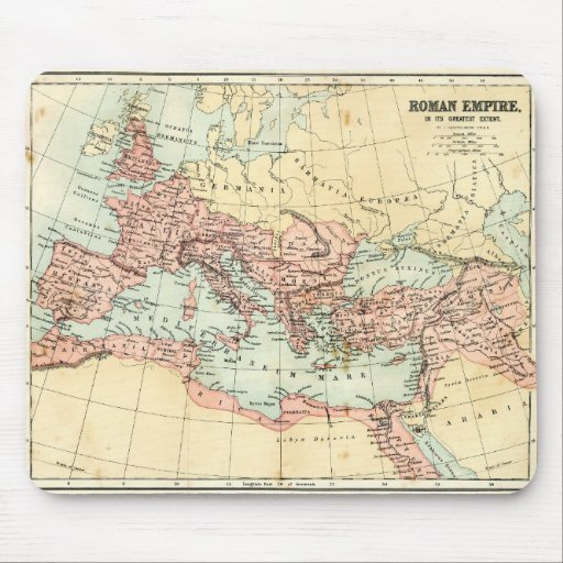 Antique map of the Roman Empire Mouse Mat