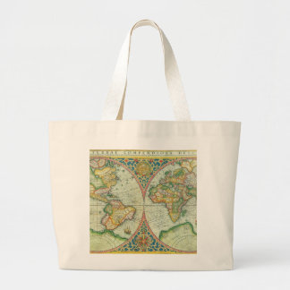 Antique Map of The World Tote Bags