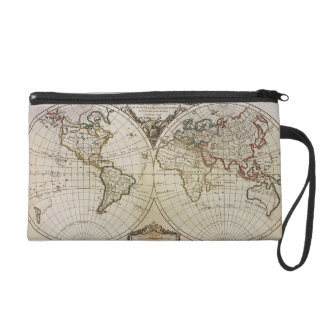 Antique Map of the World Wristlet Purse