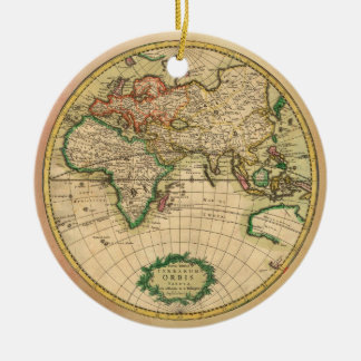 Antique Map of the World Christmas Ornament