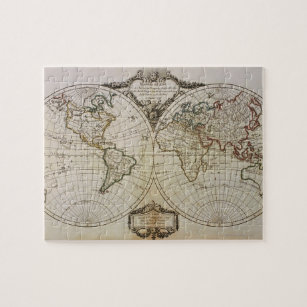 Antique Map of the World Jigsaw Puzzle