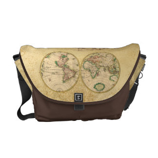 Antique Map of the World Commuter Bags