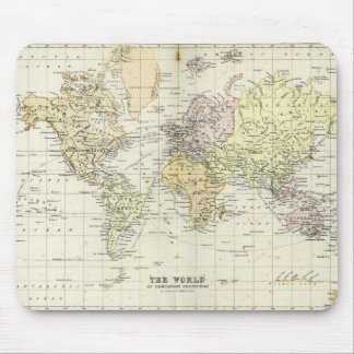 Antique Map of the World Mouse Mat