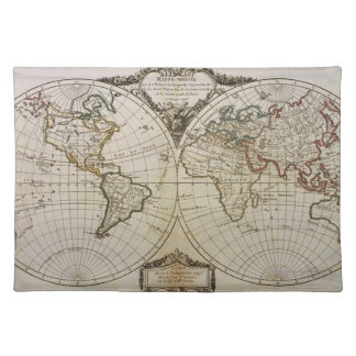 Antique Map of the World Placemat