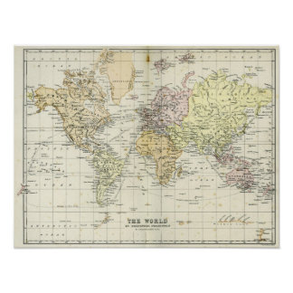 Antique Map of the World Posters