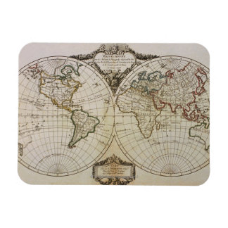 Antique Map of the World Rectangular Photo Magnet