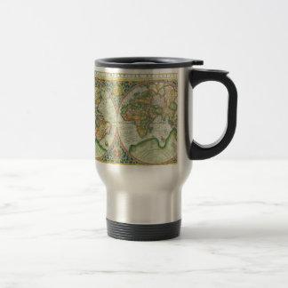 Antique Map of The World Travel Mug