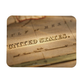 Antique map of United States Rectangular Photo Magnet