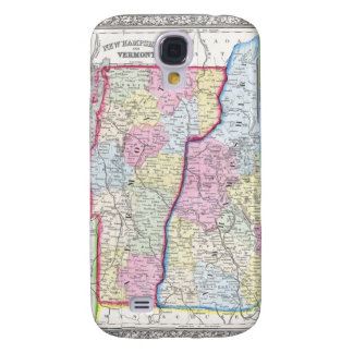 Antique Map of Vermont & New Hampshire c. 1862 Samsung Galaxy S4 Covers